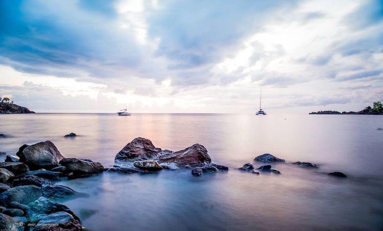 Water Tourism Nature Idyllic Sunset Sea Sky