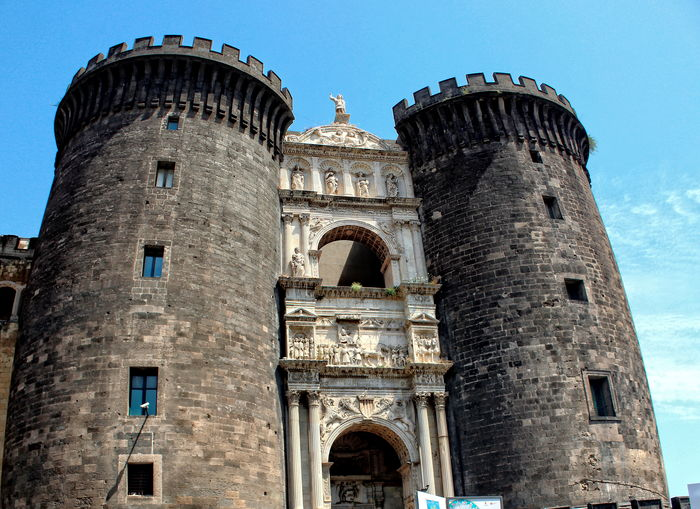 Architecture Castello Rinascimentale Centro Storico Di Napoli City Day Fortezza Low Angle View Maschio Angioino Museo Civico Napoli No People Outdoors Piazza Municipio Sky Tower Travel Destinations
