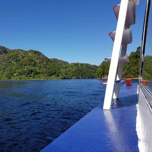 Trossachs National Park Trossachs Scotland SirWalterScott Ladyofthelake Lochkatrine EyeEm Selects Water Nautical Vessel Tree Lake Blue Clear Sky Sky Boat Water Vehicle Sailing Boat Calm