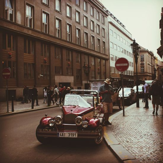 Klasik Otomobil Gezi Prague Photography