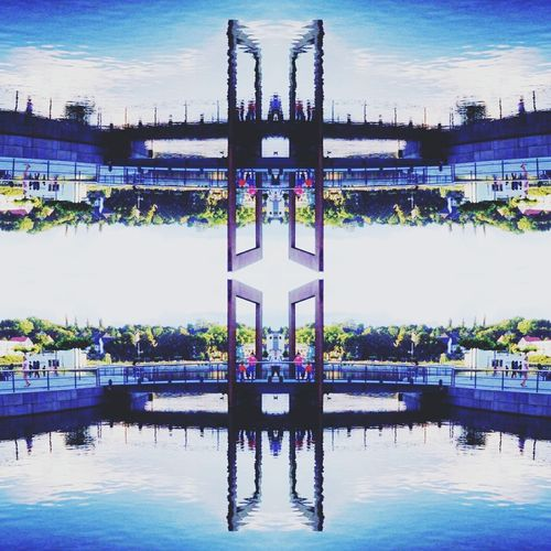 Architecture Reflection Built Structure Waterfront City Engineering Growth Modern Perspective Day