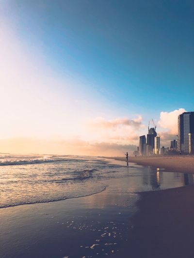 Calm Serene Outdoors Sunrise EyeEm Selects Sky Water Sea Beach Land Architecture Tranquil Scene Reflection First Eyeem Photo