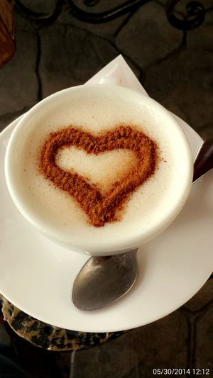 Heart Salep Onlyforme Coffee Cup Coffee - Drink Frothy Drink Drink Refreshment Saucer Food And Drink Table Cappuccino Froth Art Close-up No People Day Indoors