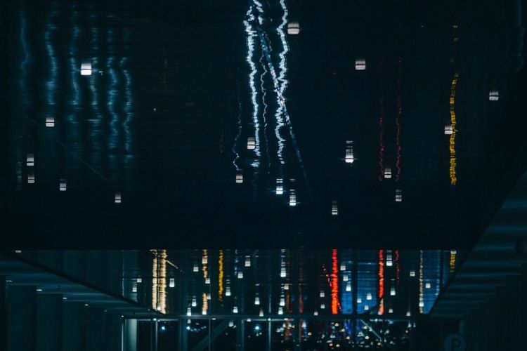 Night Illuminated Built Structure Architecture Building Exterior City Water Outdoors Abstract No People Colors