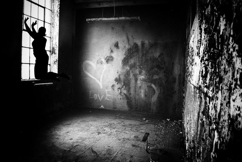 Trapped. Ghost House Abandoned Places Abandoned Buildings Abandoned & Derelict Blackandwhite Ghosts Ghost Signs