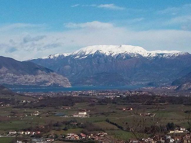 🍃☀ Lagodiseo Franciacorta Montorfano Paesaggio Panorama Lago Montagne Neve Inverno Cielo Vento Sole Ig_brescia