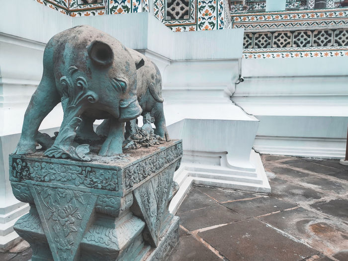 Statue of a mythical boar