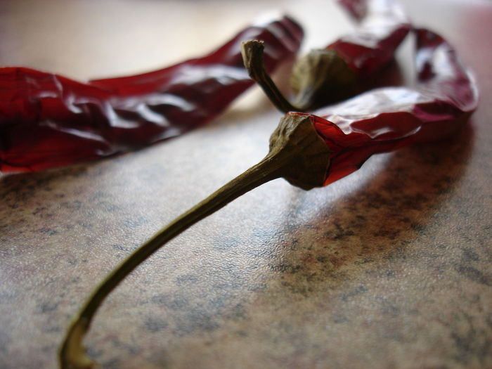 Close-up of dry red chili pepper