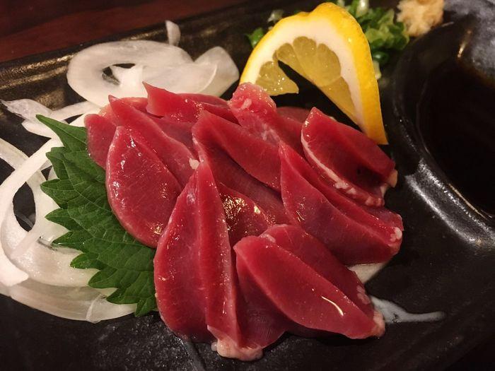 砂ずりの刺身❣️ 砂肝 砂ずり 刺身 鶏肉 Sashimi  Food And Drink Food Japan Yakitori 焼き鳥 OSAKA Dinner
