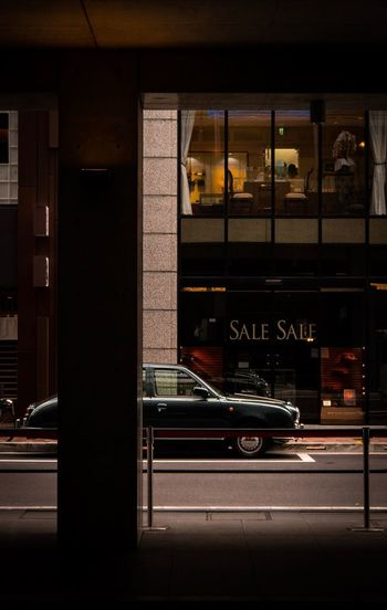 ginza Classic Car Ginza Transportation Mode Of Transportation Land Vehicle Car Motor Vehicle Built Structure Architecture City Road Building Exterior Street No People