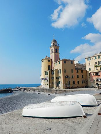 Beach Sea Architecture Sand Tower Building Exterior Lighthouse Sky Built Structure Travel Destinations No People Day Outdoors Horizon Over Water Sand Dune Nature Liguria,Italy Liguria Sea And Sky Sea Life Seaside Seascape Camogli Camogli,Italy,Liguria Camogli Italia