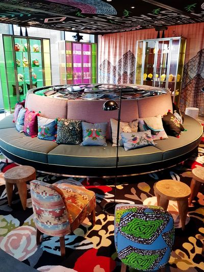 Bohemian Interior Design Decoration Decor Boho Coffee Break Restaurant Brunch Happiness Love Afternoon Weekend Coffee Hotel Mama Shelter Multi Colored Choice Retail  Market Variation Store For Sale Small Business Market Stall
