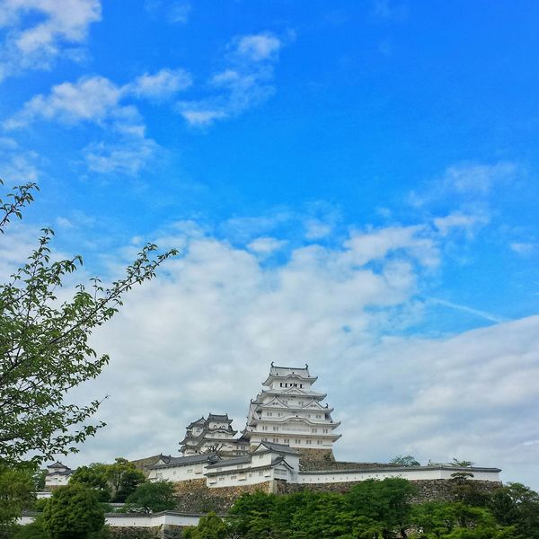 sitting on top of a hill is Himeji Castle, probably the most spectacular castle in japan || Himeji Travel Travels Travelling Traveling Explore Nippon Clouds And Sky Sky