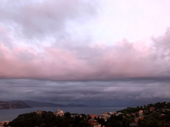 Cloud - Sky Sky Architecture Built Structure Building Exterior Nature House Beauty In Nature No People Weather Town Tree Scenics Outdoors Residential Building Mountain Storm Cloud City Landscape Day Liguria After Storm