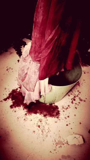 Vintage Blood Bath Horror Horror Photography Notes From The Underground Wedding Dress Dyeing Vintage Fashion Showcase: November