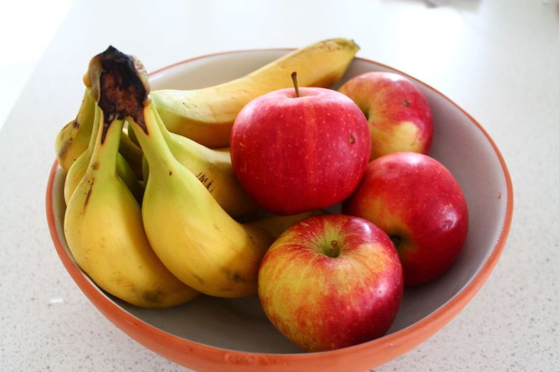 Fruit Apple EyeEm Selects Healthy Eating Fruit Food Food And Drink Freshness Wellbeing Group Of Objects Bowl Table Plate Indoors  Group High Angle View No People Close-up Apple - Fruit Still Life Banana Red Pear
