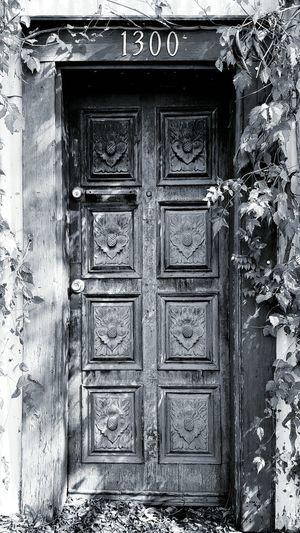 Blackandwhite Light And Shadow Creepy Door Doors