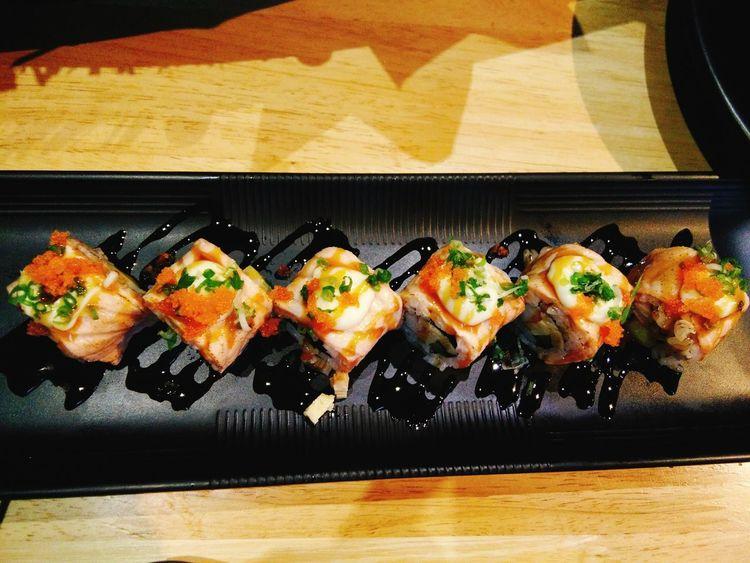 salmon rolls sushi Food Japanese Food Meal Appetizer Sushi Japanesefood Salmon Sashimi Meal Sashimi Sushi Food Art Vegetable Food Photography Foodlovers Cooked Salmon Salad Foodtrip Stiil Food Plate Sushi Still Life Food And Drink Ingredients