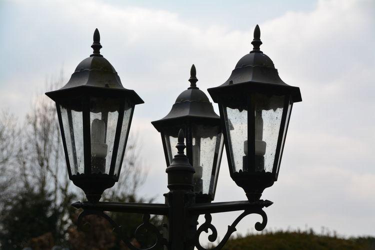 Close-up of street light
