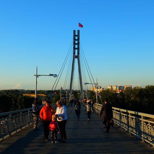 Architecture Blue Bridge Built Structure City City Life Lifestyles Russia Sky Tourism Tourist Travel Destinations Tyumen'