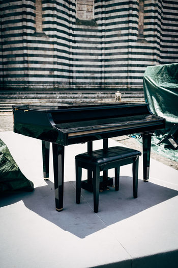 Seat by piano