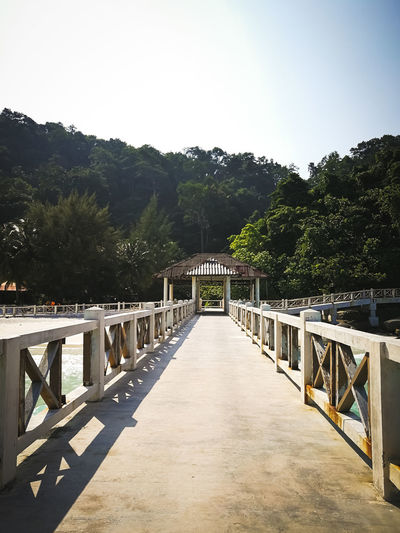 Pulau Redang, Malaysia. Tree Built Structure Architecture Plant Sky The Way Forward Nature Direction Clear Sky Railing No People Connection Day Bridge Outdoors Tranquility Footpath Sunlight Beauty In Nature Footbridge Diminishing Perspective Ocean Snorkeling Malaysia Jetty Travel Destinations Tropical Island Turquoise Water Beautiful Nature