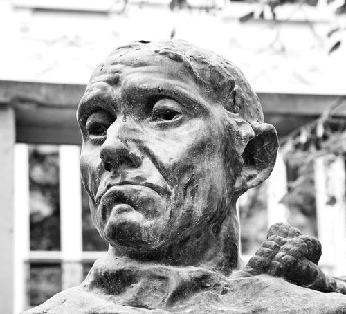 "Detail from ""Les Bourgeois de Calais"" Jean d'Aire by Rodin at Musée Rodin, Paris Fragments Of Life Sculpture"