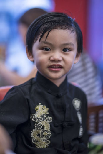 Asian kid... Asian  Eyeem Philippines The Week on EyeEm Asian Kids Boys Child Childhood Clothing Cute Focus On Foreground Front View Indoors  Innocence Lifestyles Looking At Camera Males  Men One Person Portrait Real People Uniform Waist Up