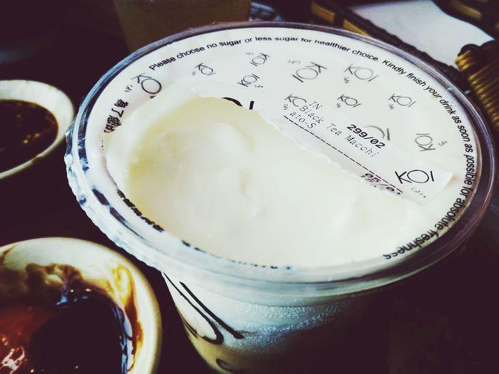 The most tasty black tea machiato in town Koi Thé Black Tea Machiato