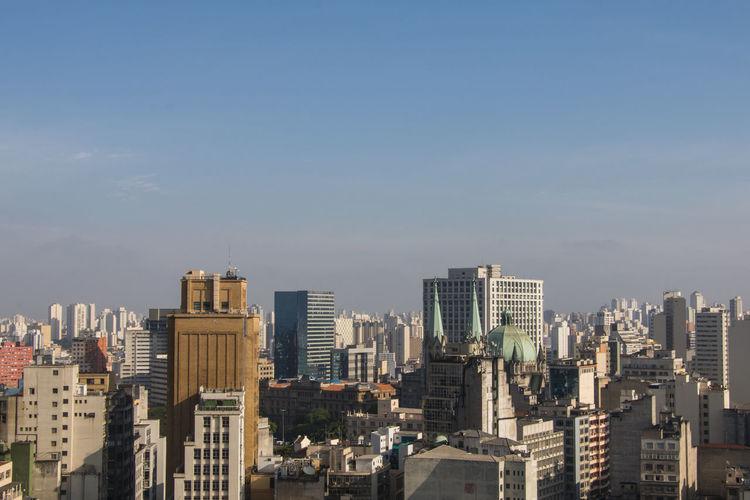 Aerial View Catedral Da Sé City Scape São Paulo
