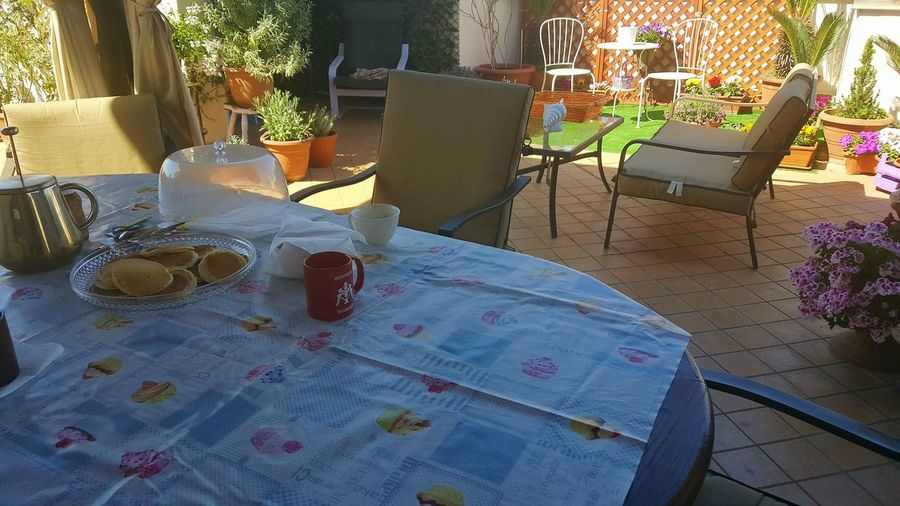 A Relaxed Day Relaxing At Home Breakfast On The Terrace Breakfast On The Terrace Breakfast Outside Outside Hello World A Beautiful Day A Beautiful Morning Pancakes Pancakesunday