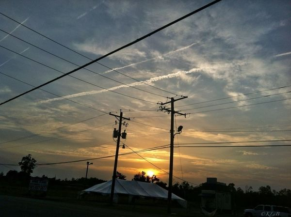 Sunset Power Lines #chemtrails