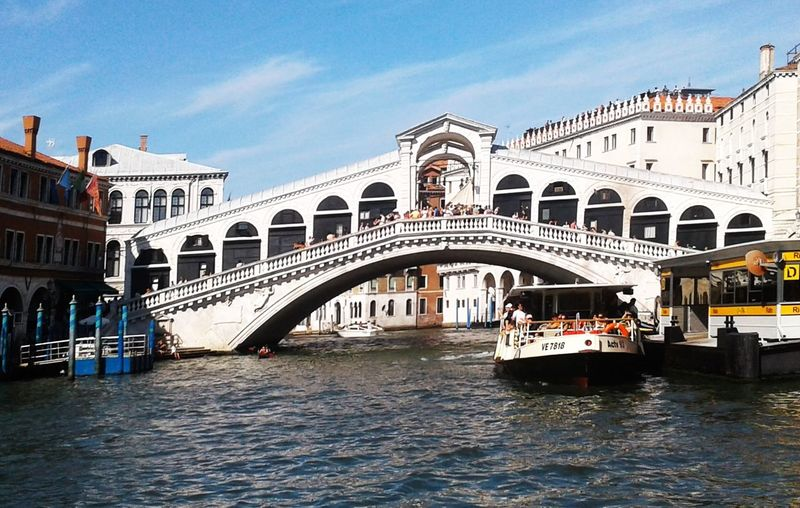 Be. Ready. Bridge Tourism Travel Destinations Canal Vacations Architecture Arch Water Bridge - Man Made Structure Day Sky Beautiful Sea Outdoors Relaxing Building Exterior Boat Buildings