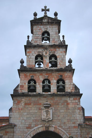 Asturias Bell Christian Architecture Belief Bell Tower Bellfry Building Building Exterior Built Structure Cangas De Onís Cloud - Sky Day History Low Angle View Nature No People Outdoors Place Of Worship Religion Sky Spirituality Tower