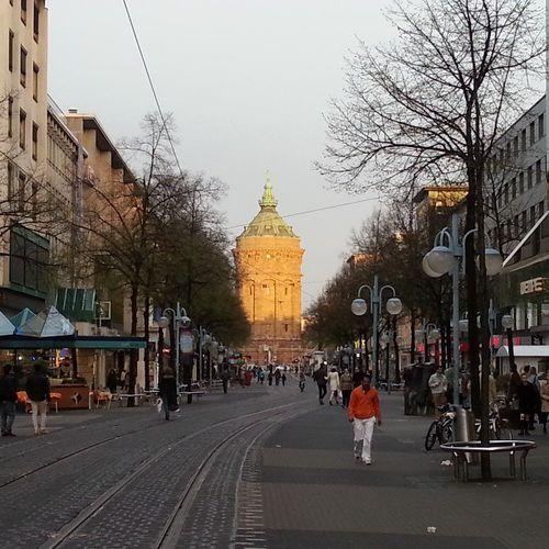 Mannheim Wasserturm Sonnenuntergang