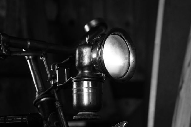 This is the carbide lamp of my 1949 bicycle 40s Arts Culture And Entertainment Bicycle Blackandwhite Carbide Close-up Day Fire Focus On Foreground Gas Lamps Indoors  Light Light And Shadow No People Old Lamp Prewar War War Memorial Lieblingsteil EyeEmNewHere