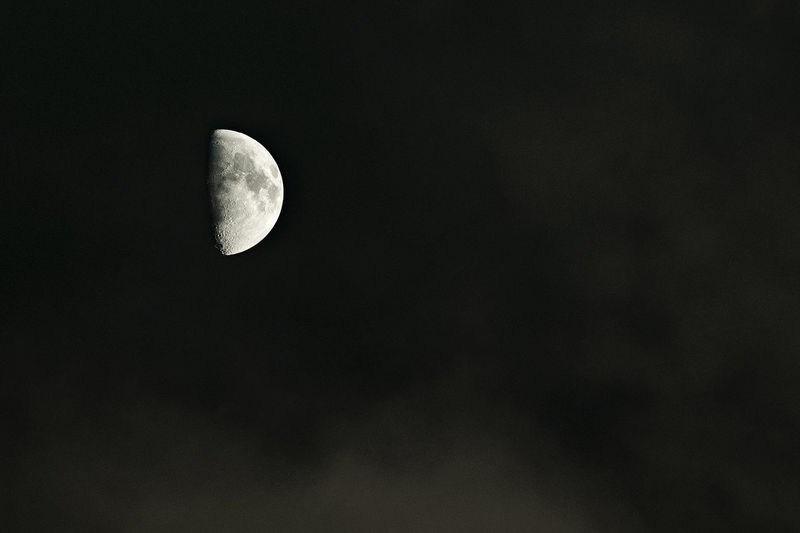 Scenic view of moon against sky at night