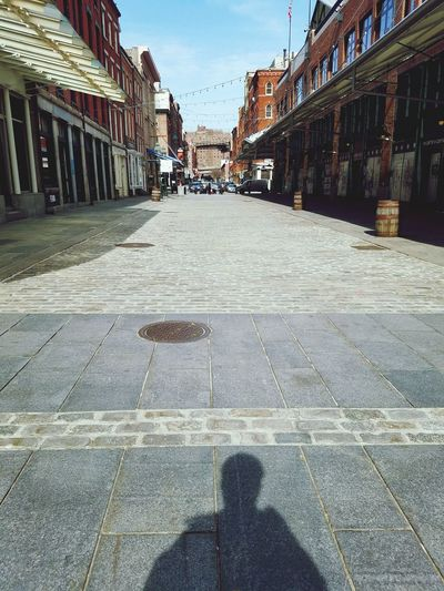 Shadow Selfie Mobile Photography New York City South Street Seaport