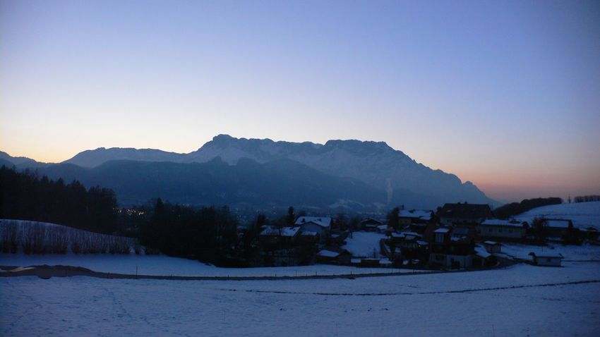 Winter Snow Scenics Untersberg Austria Germany Salzburg Mountain Peaks Landscape Sunset Beauty In Nature Clear Sky