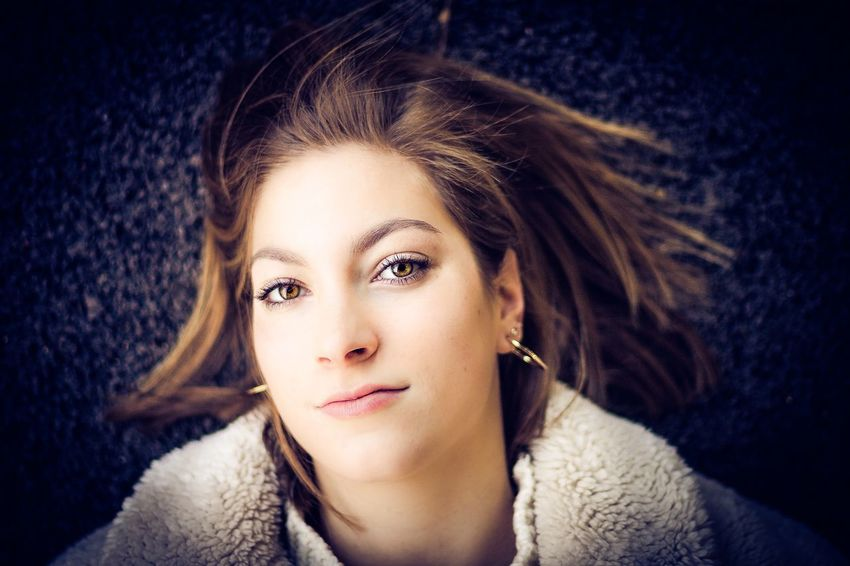 the look Portrait Headshot Looking At Camera Beautiful Woman Beauty One Person Young Adult Young Women Front View Women Lifestyles Adult Real People Brown Hair Indoors  Hair Leisure Activity Close-up Hairstyle Contemplation Warm Clothing