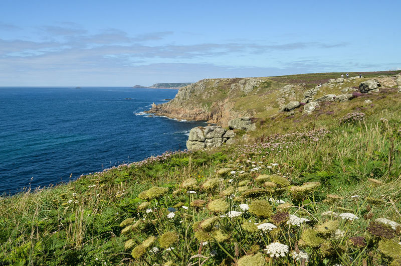 Beauty In Nature Cornwall Cornwall Life Cornwall Tourism Cornwall Uk Cornwall Walks Day Grass Horizon Over Water Idyllic Lands End Landscape Landscape_Collection Landscape_photography Nature Non-urban Scene Scenics Sky Tranquil Scene Tranquility