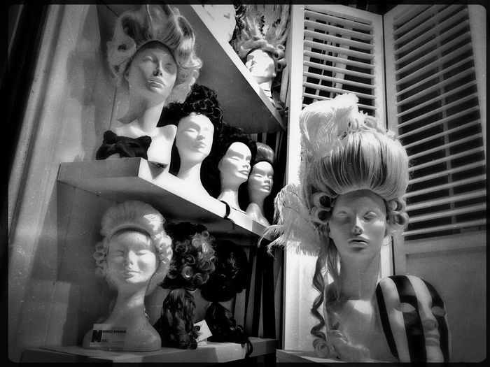 Wigs Window Venice, Italy Let Your Hair Down