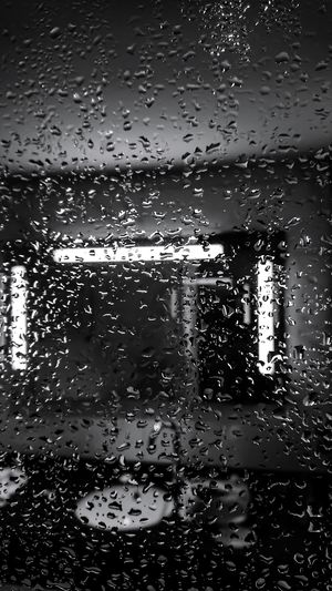 Shower cubicle and water droplets Backgrounds Full Frame Abstract No People Freshness Water Close-up Droplets Collection Water Droplets Water Drop Photography Water Drops. Black And White Monochrome_Photography Shower Time Shower Room Shower Door