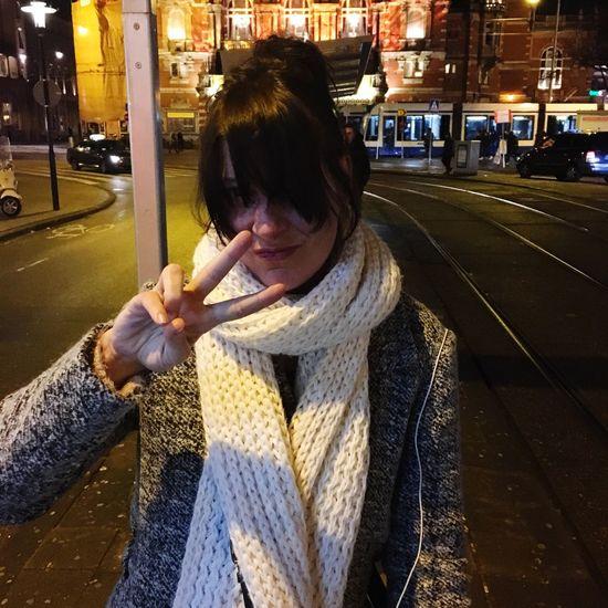 Sister ❤ Leidseplein Tramstop Peace ✌ Cool Dude Amsterdam Amsterdamcity
