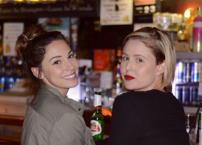 Beautiful Girls  Bar Taking Photos Tattle Tale Blonde Brunette Say Cheese! Check This Out Culver City Eye4photography