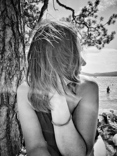 Woman Water Young Women Females Women Human Back Tree Standing Long Hair Beautiful Woman Beauty The Portraitist - 2019 EyeEm Awards
