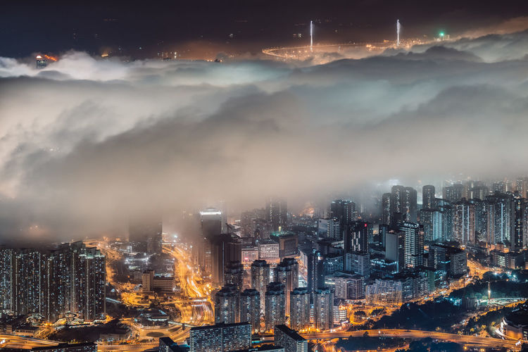 Architecture Building Exterior Built Structure Capital Cities  City City Life Cityscape Cloud - Sky Development Financial District  Hong Kong HongKong Illuminated Modern Night No People Office Building Outdoors Residential Building Sky Skyscraper Tall - High Tower Travel Destinations Urban Skyline