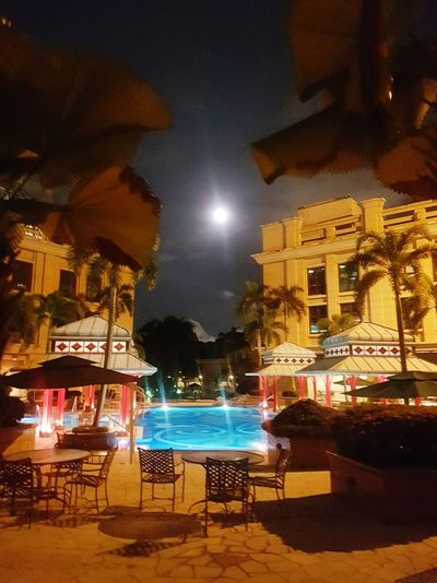 calm and bright on the first night of 2018 Illuminated Night Night Lights No People Outdoors Moon Moonlight Building Exterior Architecture Quite Place Peace And Quiet