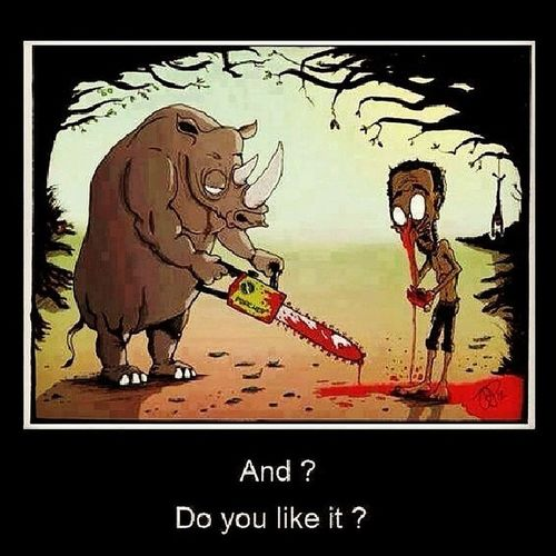 Doyou  ? Stop Brutality Against Animals GotPaid Tit4Tat Peta Abusing Hurting Harmless Creatures Humans Killing Rhino Karma