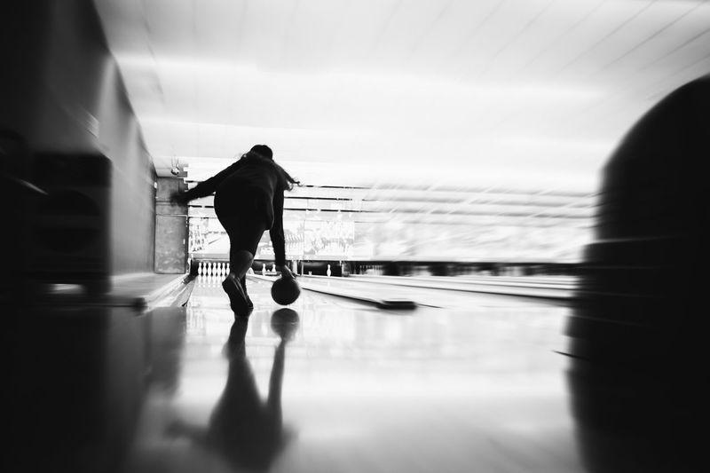 Players are gonna play // VSCO Vscocam Blackandwhite Black & White Monochrome FUJIFILM X100S Fuji X100s X100S Bowling Bowling Alley